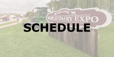 world dairy expo welcome sign